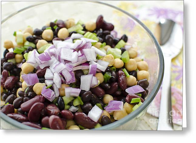 Greeting Card featuring the photograph Fresh Bean Salad by Maria Janicki