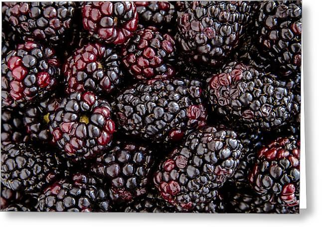 Fresh Blackberries Greeting Card by Teri Virbickis