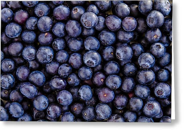 Fresh Blueberries Greeting Card by Teri Virbickis