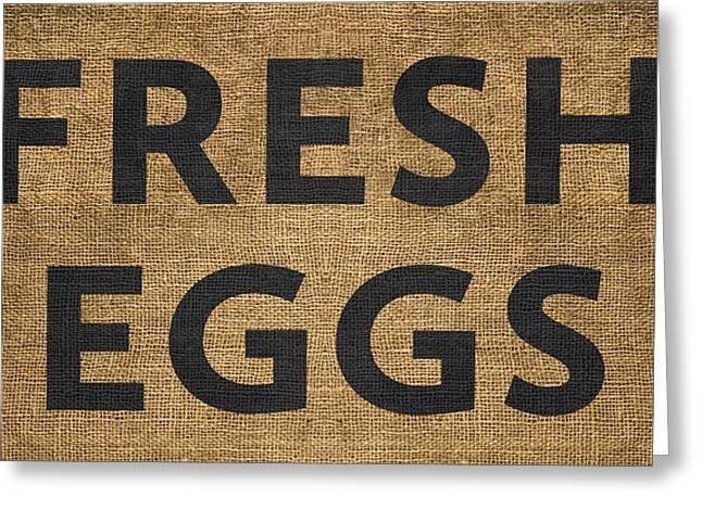 Fresh Eggs Greeting Card