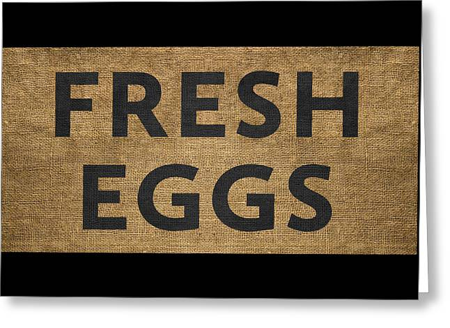 Fresh Eggs Greeting Card