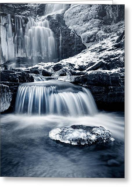 Fresh Falls At Scaleber Force Greeting Card by Chris Frost