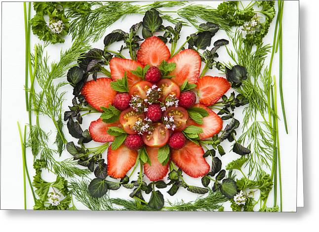 Fresh Fruit Salad Greeting Card by Anne Gilbert
