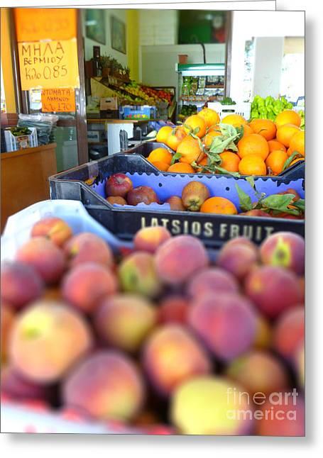 Fresh Fruit Greeting Card by Vicki Spindler