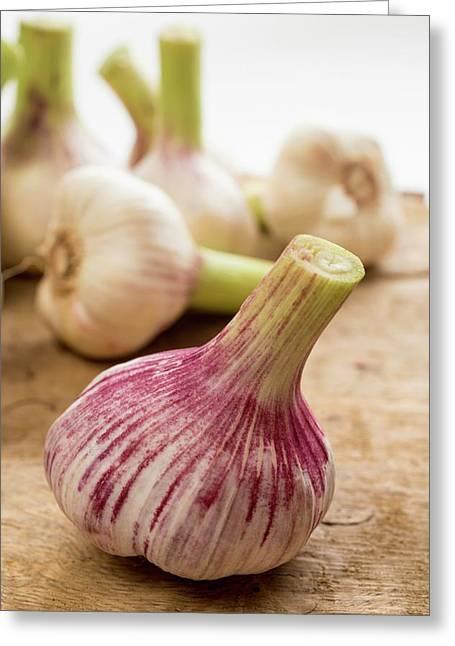 Fresh Garlic Greeting Card by Aberration Films Ltd