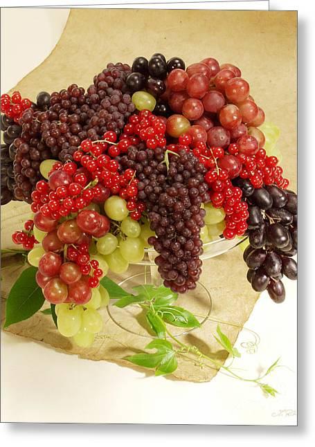 Fresh Grapes  Greeting Card