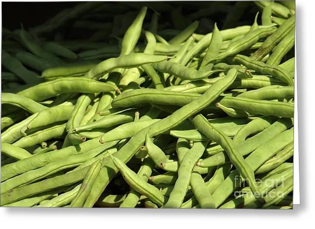 Fresh Green Beans Greeting Card