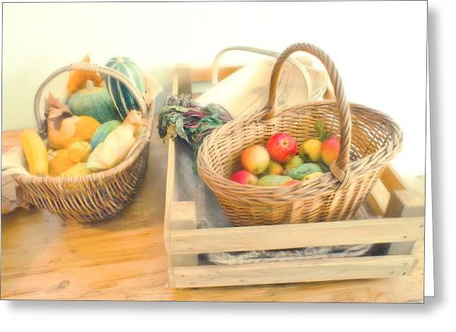 Fresh Harvest Greeting Card by Tom Gowanlock
