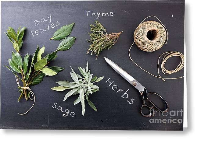 Fresh Herbs Greeting Card by Viktor Pravdica