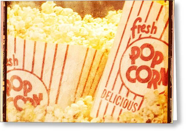 Fresh Hot Buttered Popcorn Greeting Card