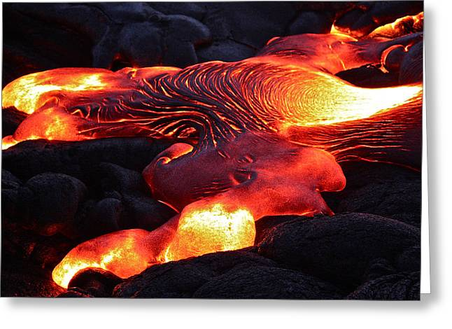 Fresh Lava Flow Greeting Card