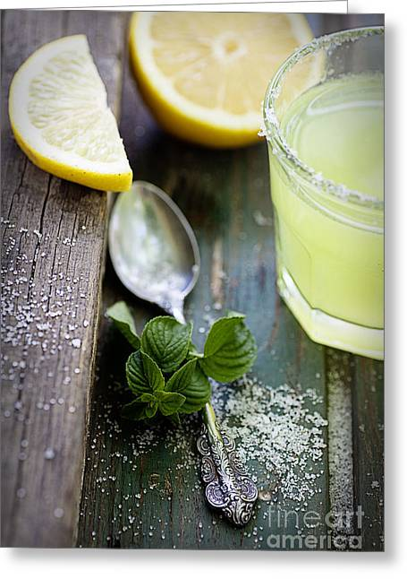 Fresh Lemonade Greeting Card by Mythja  Photography