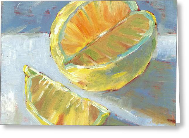 Fresh Lemons Greeting Card