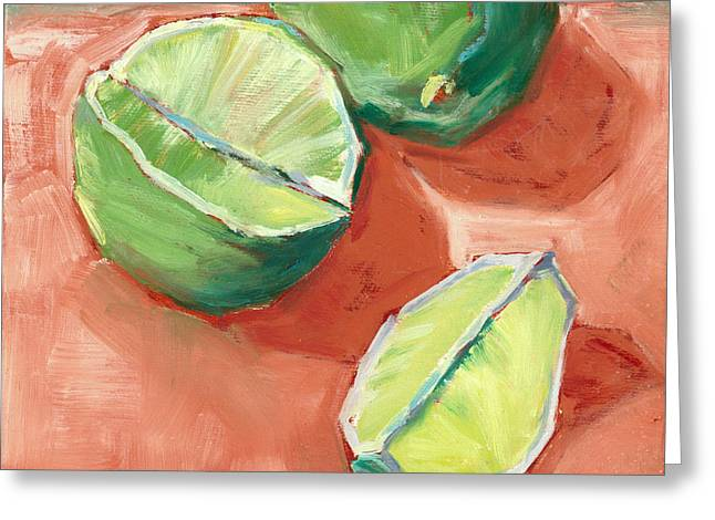 Fresh Limes Greeting Card