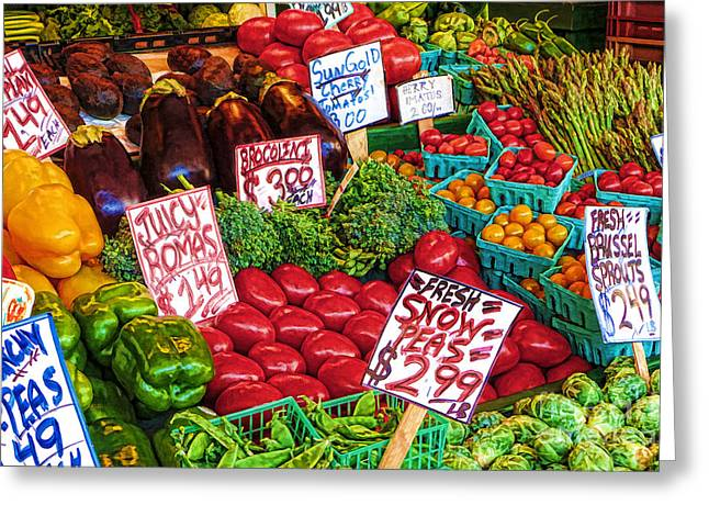 Fresh Market Vegetables Greeting Card
