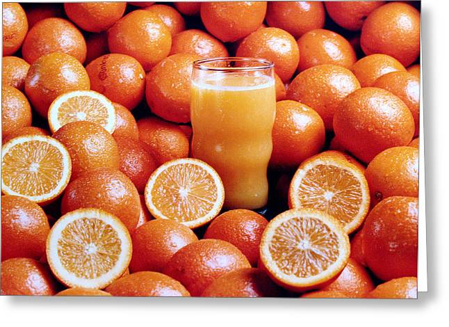 Fresh Orange Juice Greeting Card