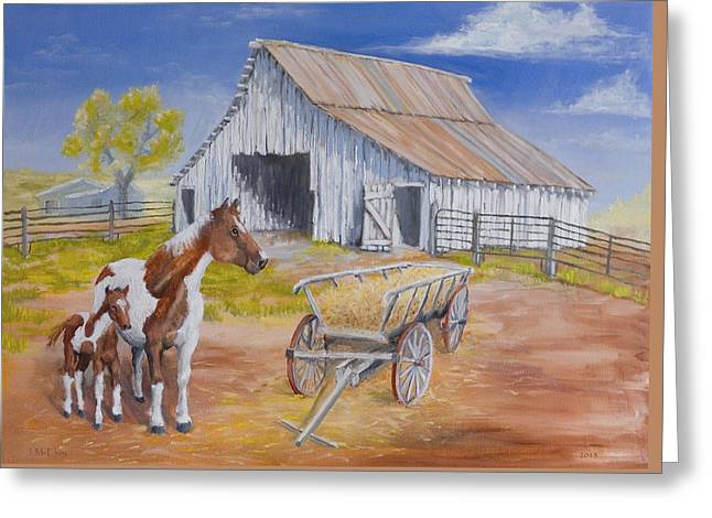 Fresh Paint Greeting Card by Jerry McElroy