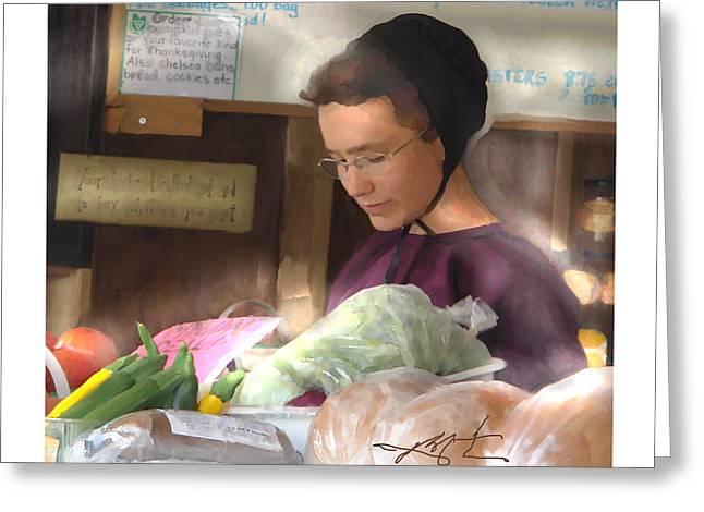 Fresh Produce For Sale Greeting Card by Bob Salo