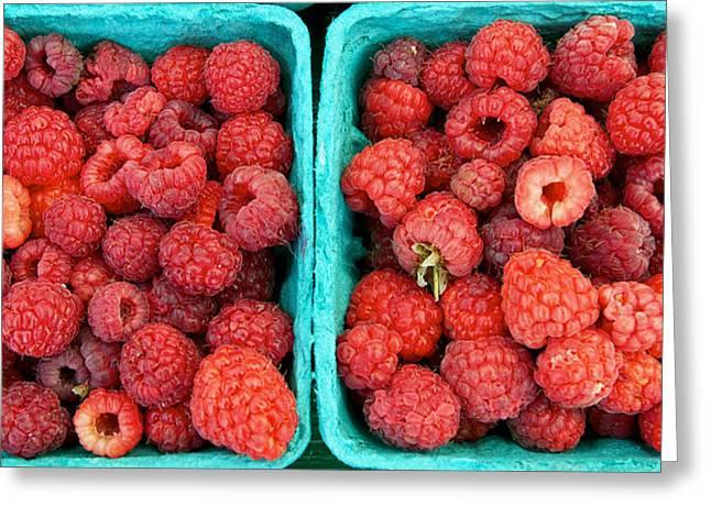 Fresh Raspberries Greeting Card