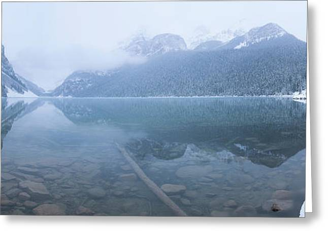 Fresh Snow At Lake Louise, Banff Greeting Card by Panoramic Images