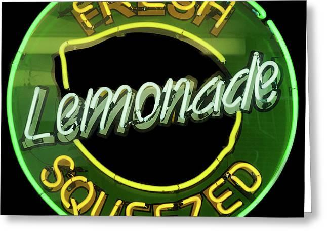 Fresh Squeezed Lemonade Greeting Card by Michael Flood