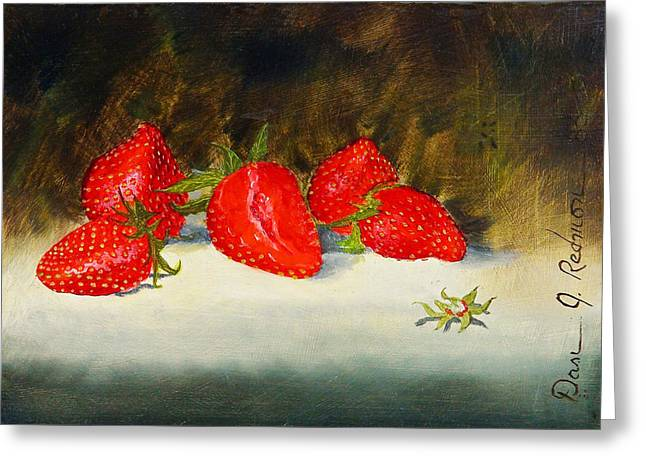 Fresh Strawberries Greeting Card by Dan Redmon