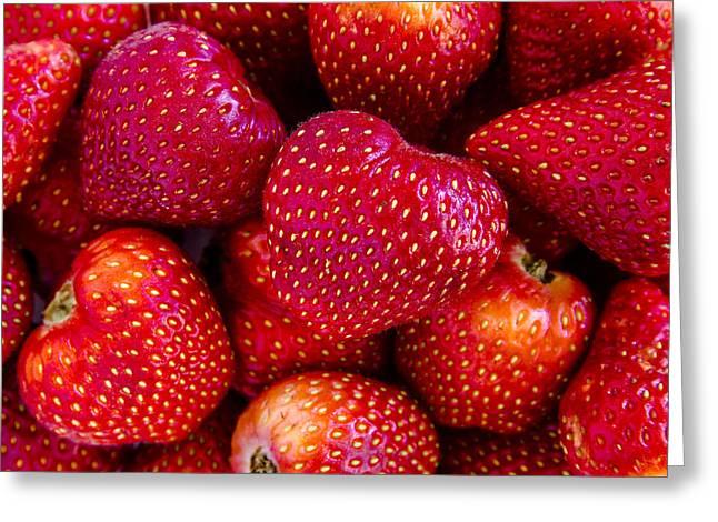 Fresh Strawberries Greeting Card by Teri Virbickis