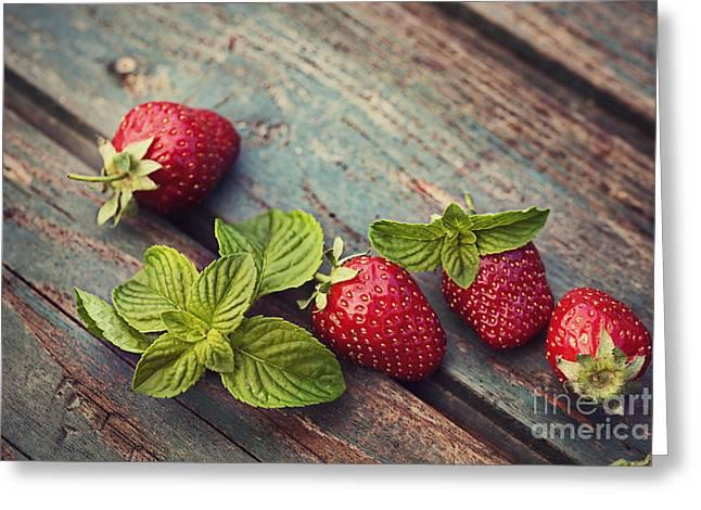 Fresh Strawberry Greeting Card