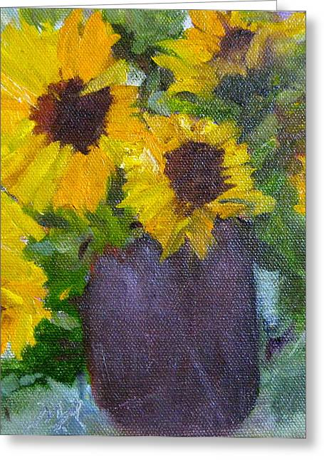 Fresh Sunflowers Greeting Card by MaryAnne Ardito