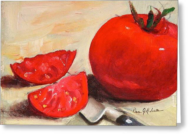 Fresh Tomatoes Greeting Card by Dan Redmon