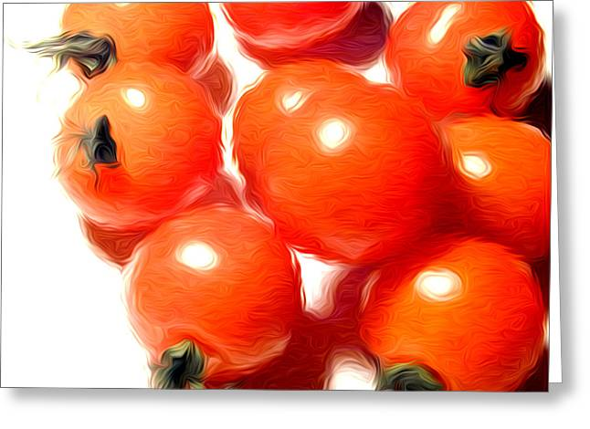 Fresh Tomatos Greeting Card by Stefan Petrovici