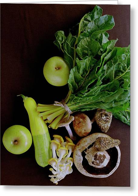 Fresh Vegetables And Fruit Greeting Card