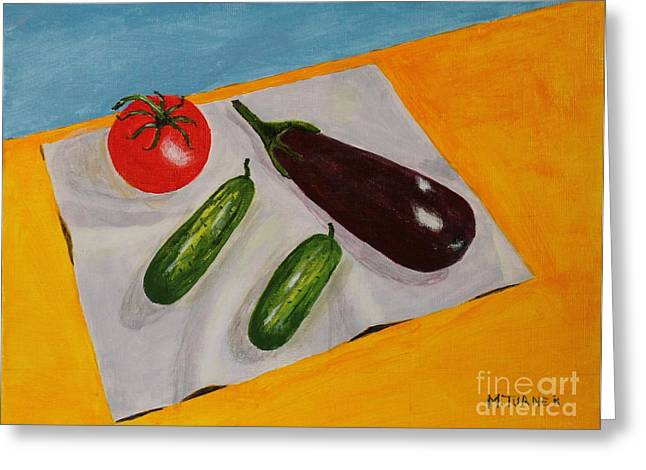 Fresh Vegies Greeting Card by Melvin Turner