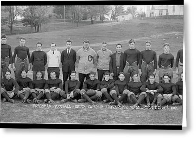 Freshman Football Squad, Catholic Greeting Card