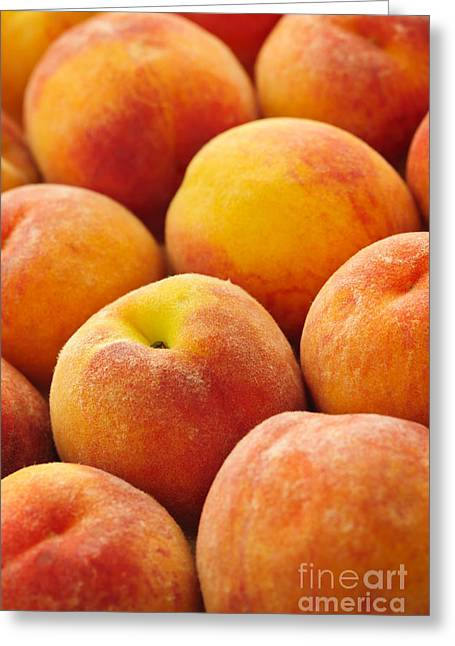 Freshness Of Peaches Greeting Card by Elena Elisseeva