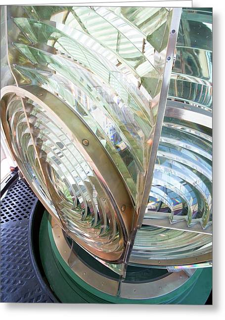 Fresnel Lens In Lighthouse Greeting Card by Dr Juerg Alean
