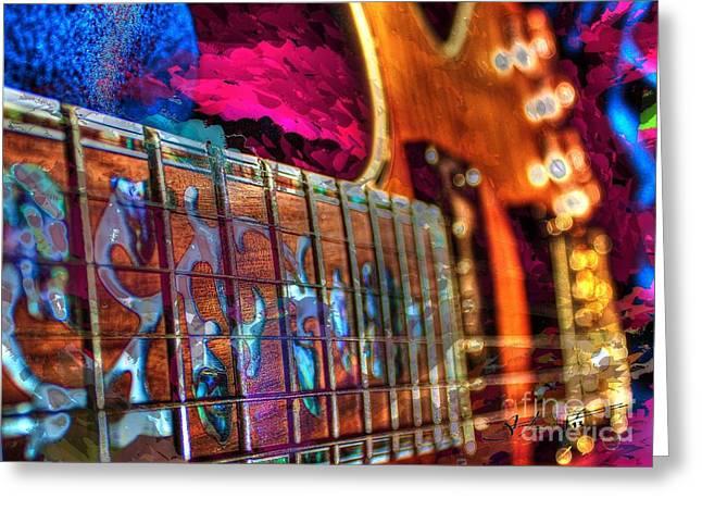 Fret Work Digital Guitar Art By Steven Langston Greeting Card by Steven Lebron Langston