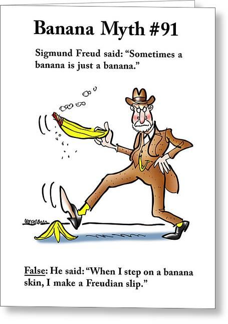 Freudian Slip Greeting Card