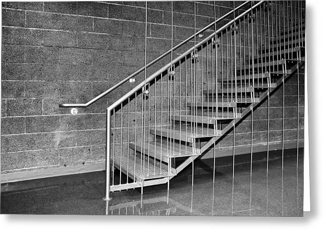 Frey Stairs North Shore Salton Sea Greeting Card by William Dey