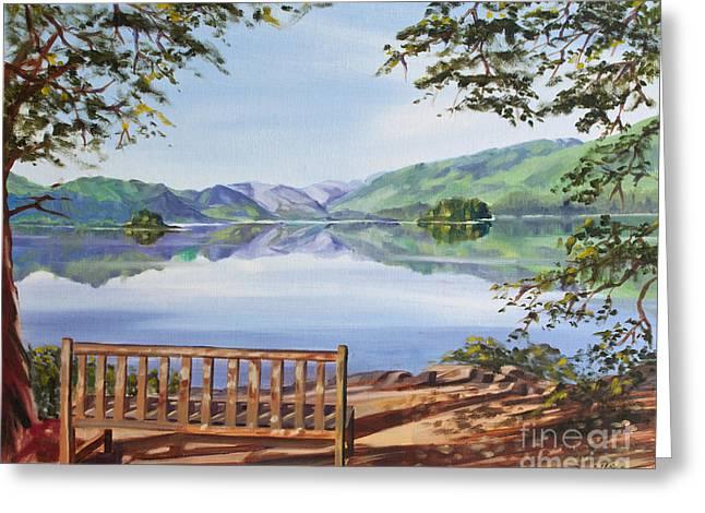 Friars Crag And Lake Derwentwater Greeting Card by David King