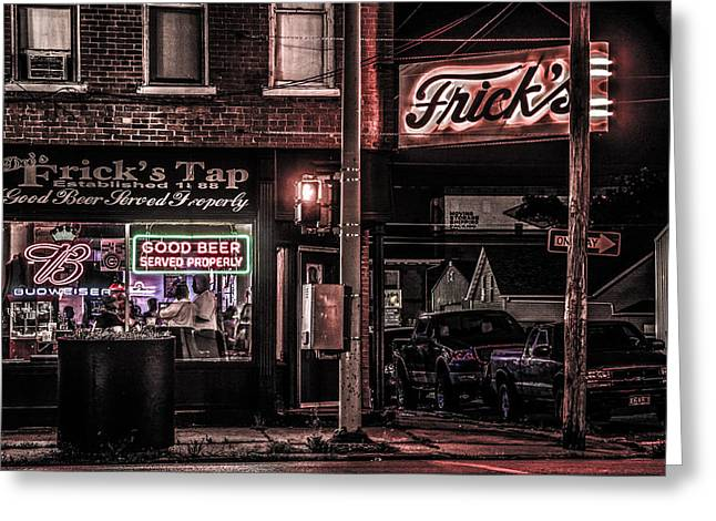 Frick's Tap Greeting Card by Ray Congrove