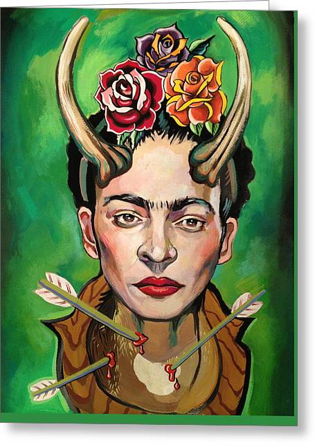 Frida Greeting Card by Britt Kuechenmeister