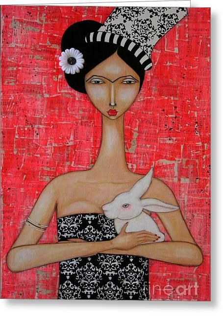 Frida In Wonderland Greeting Card