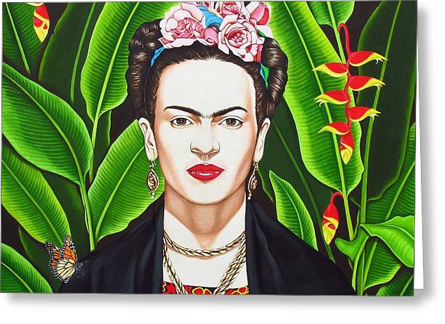 Frida Greeting Card by Joseph Sonday