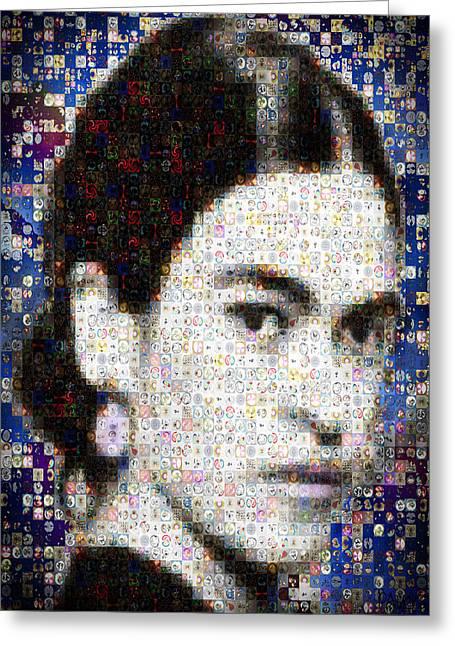 Frida Kahlo Mosaic Greeting Card