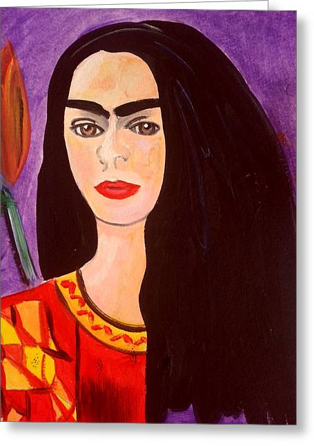 Frida Kahlo Young Greeting Card