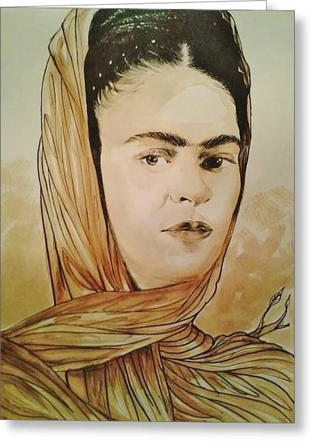 Frida Tree Wrap - Www.johnbarge3.com Greeting Card by Art of John Barge III