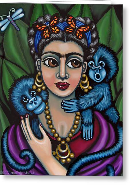 Frida's Monkeys Greeting Card