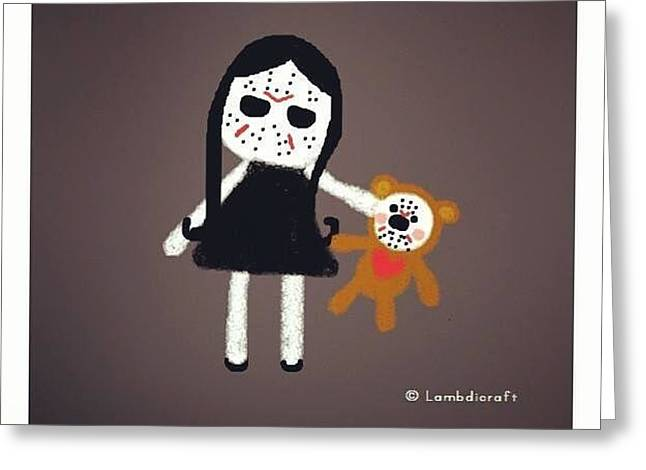 Friday The 13th Greeting Card by Watcharee Suebkhajorn