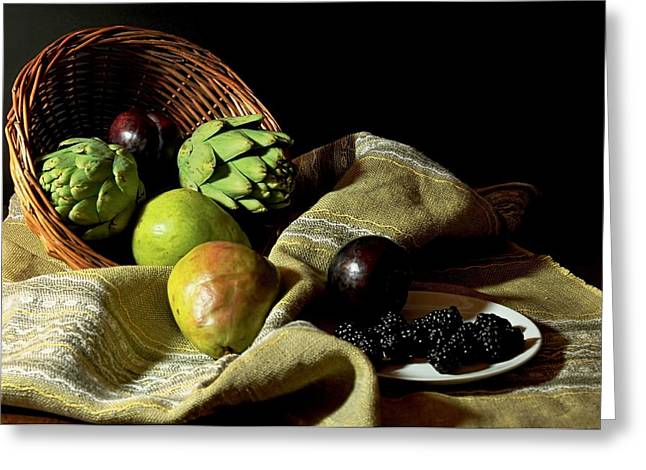 Friday's Basket Greeting Card by Diana Angstadt